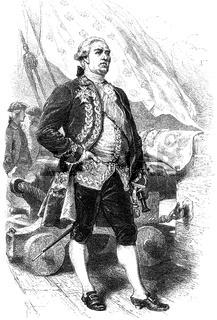 Admiral bailli de Suffren,  1729-1788, a  French admiral