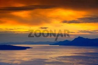 Makarska Riviera Sonnenuntergang - Makarska Riviera sunset 02