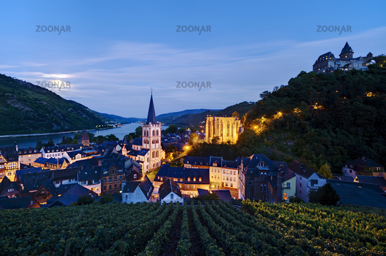 Bacharach at Rhine River, Germany