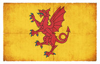 Grunge flag of Somerset (Great Britain)