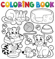 Coloring book cat theme collection - picture illustration.