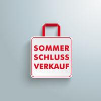 White Paper Shopping Bag Sommerschlussverkauf PiAd