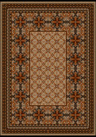 Luxurious carpet with original pattern with brown
