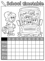 Coloring book school timetable 7 - picture illustration.