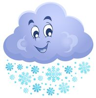 Winter cloud theme image 1 - picture illustration.