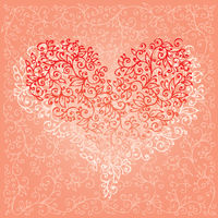 St. Valentine Love Red Heart Card 5