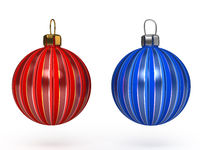 Colorful christmas balls. Set of decorations.