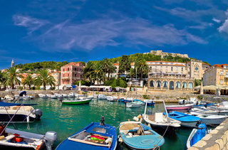 Island of Hvar waterfront view