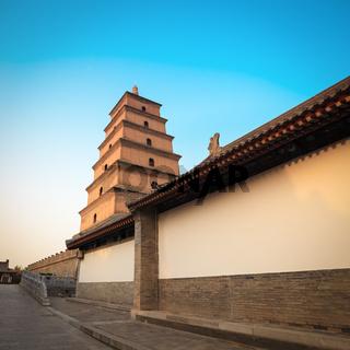 chinese giant wild goose pagoda