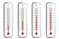 Indoor thermometers in Fahrenheit scale