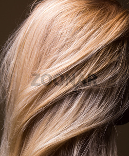 clean natural healthy hair close-up