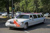 Stretch-Limousine für ein Hochzeitspaar