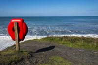 Lifebuoy on the North Cornish coast