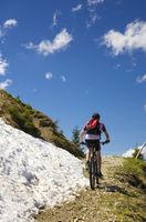 Mountain bike rider in Austria