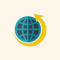 Green World Flat Icon