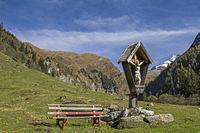 Wooden Cross in the Vals valley