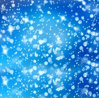 Christmas snowy background with blue and white stars