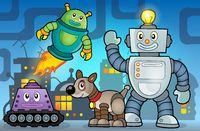Robot theme image 6 - picture illustration.
