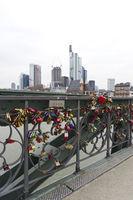 Love locks on the Eiserner Steg, Frankfurt