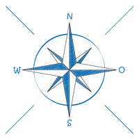 Compass Blue Scribble