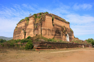 Remains of incomplete stupa Mingun Pahtodawgyi, Mandalay, Myanmar