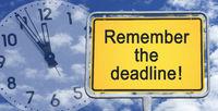 Remember the deadline !