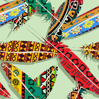 Ikat feather pattern 5
