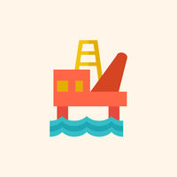 Fossil Fuel Flat Icon
