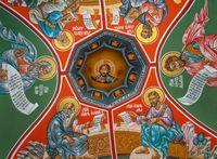 Murals on a church`s vault
