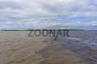 Amazon Basin, Brazil, mix of two rivers