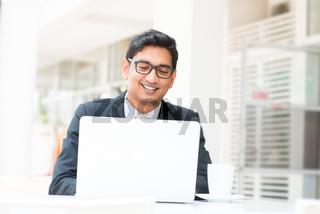 Indian businessman lunch break