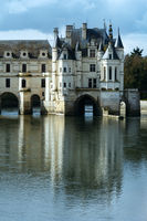 Chateau Chenonceau or Ladies Castle (France).