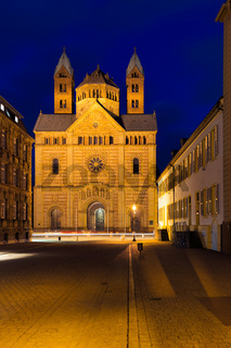 Speyer cathedral at dawn, Pfalz, Germany