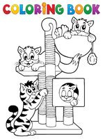 Coloring book cat theme 1 - picture illustration.