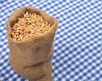 Getreidesack auf Tuch - Cereal bag on cloth