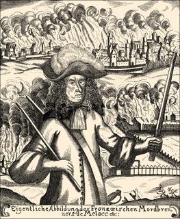 Ezéchiel du Mas, Comte de Mélac, c. 1630 - 1704, war minister Louvois