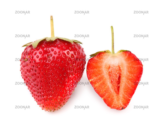 One and half strawberries.