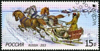 RUSSIA - 2013: shows Mail carrier