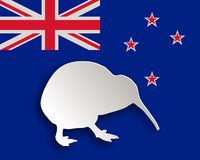 Kiwi - Kiwi on flag