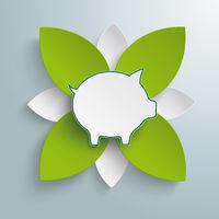 Eco Piggy Bank Green Flower PiAd