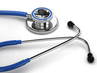 Stethoscope on white isolated background.