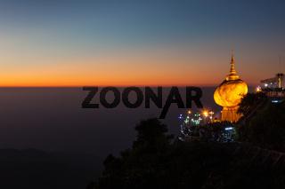 Golden Rock - Kyaiktiyo Pagoda - famous Myanmar landmark