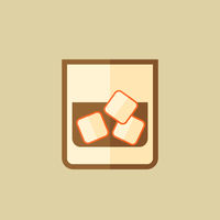 Whiskey. Food Flat Icon