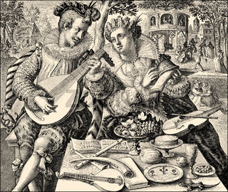 A couple making music, 16th century