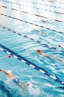 People swimming in a swimming pool