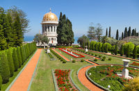 Bahai gardens at Haifa, Israel