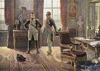 Napoleon I. Bonaparte with Prince Metternich