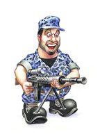Soldier with sniper gun