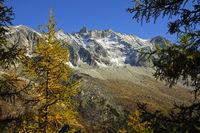 Peak Aiguille de la Tsa, Val d'Hérens,Switzerland