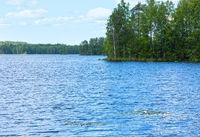 Lake Rutajarvi summer view (Finland).